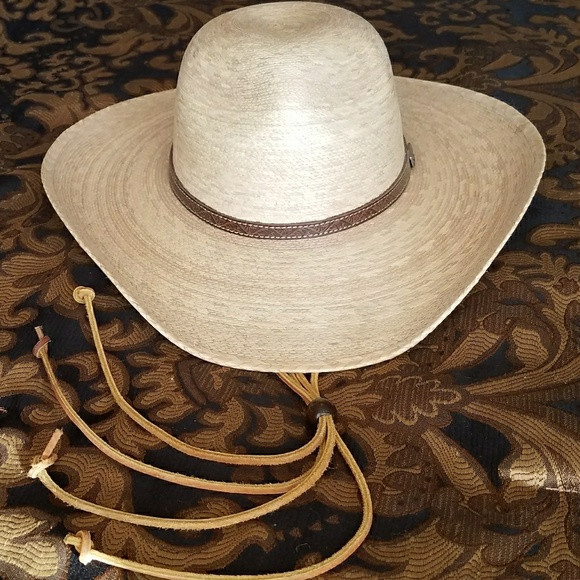 1aa20a4e63df2 ATWOOD RANCH Palm Cowboy Hat   Stampede Strings